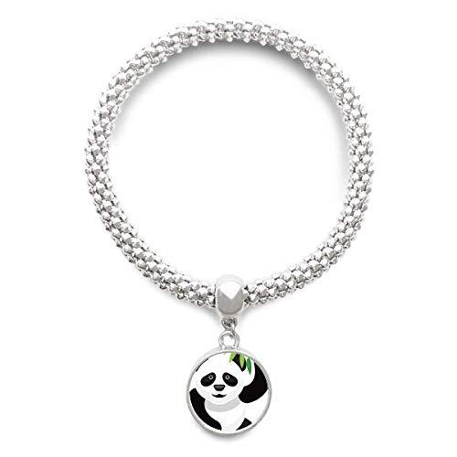 DIYthinker Damen Chinese Panda Bambus Traditionelle Kunst-Muster-Splitter Armband Laufende hängende Schmuckkette