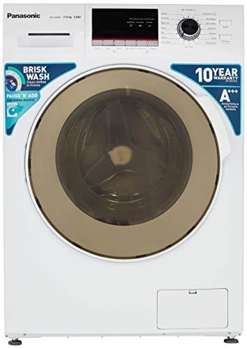 Panasonic 7 kg Fully-Automatic Front Loading Washing Machine (NA-127MB2W01, White, Inbuilt Heater)