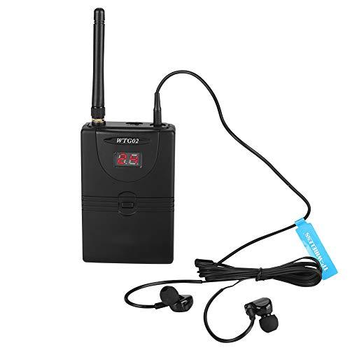 Zhat Receptor de Sistema de monitorización intrauditivo inalámbrico, monitorización de Estudio de grabación, Monitor inalámbrico Digital Profesional de 2,4 GHz para el hogar