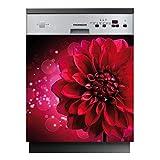 Stickers Lave Vaisselle Fleur - LAV-205-60x60 cm