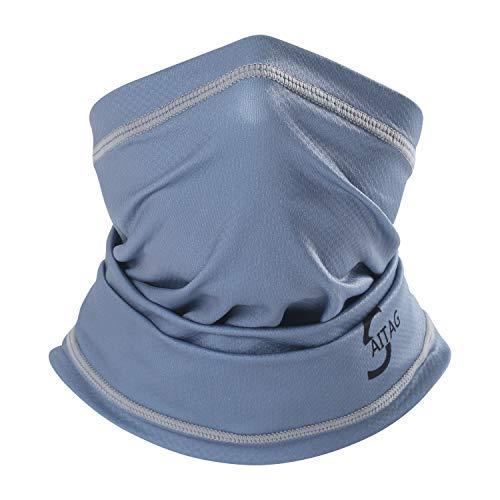 SAITAG Sun Dust Protection Neck Gaiter Breathable Elastic Face Scarf Mask for...
