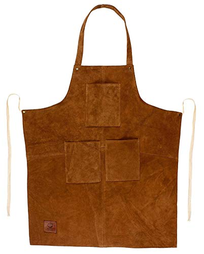 Rustic Town Genuine Leather Woodworking Apron