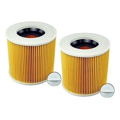 Repuesto de filtro de cartucho de repuesto compatible con aspiradoras Karcher WD2200 WD2240 A2200 VC6200 (color: como se muestra) accesorios de aspiradora (color: como se muestra).