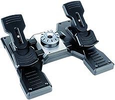Pedali Logitech G Saitek Pro Flight Rudder, Pedaliera del Timone di Volo, Freni a Pedale Simulazione Professionale,...