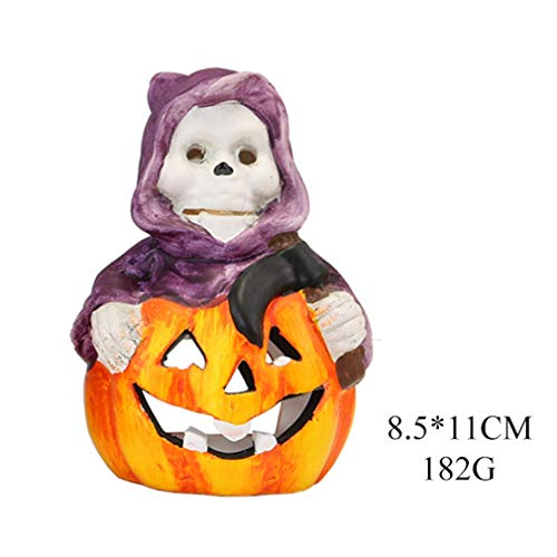 Led-Halloween-nachtlampje, pompoendecoratie, creatief horror-accessoire, voor feestjes, kinderen, Halloween, buiten, geschenken, 1 stuk