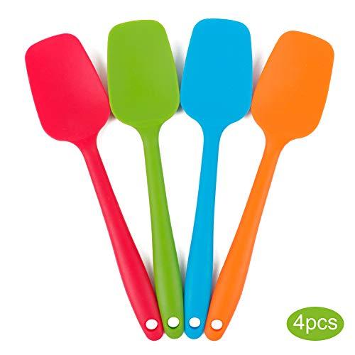4 Piece Silicone Spatula Set, Non-stick Dishwasher Safe Seamless Spatulas, Flexible Spatulas with Stainless Steel Core Silicone Heat Resistant - Multicolor(21.7cm/8.56inch)