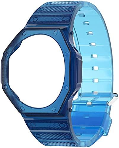 【工具付き】G-SHOCK対応ベルト スポーツラバー ソフト交換用時計ベルト G-Shock GA2100/GA2110 カシオ/Gショック に対応 ストラップ ベゼル 交換可能 腕時計アクセサリ