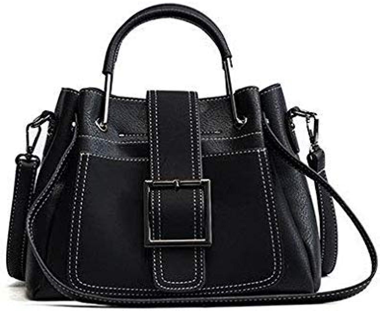 Bloomerang High Quality Shoulder Bags Soft Pu Leather Handbags Fashion Sequined Women Bags Luxury Rivet Tote Women Bags Sac A Mian New color Black 26x9x12cm
