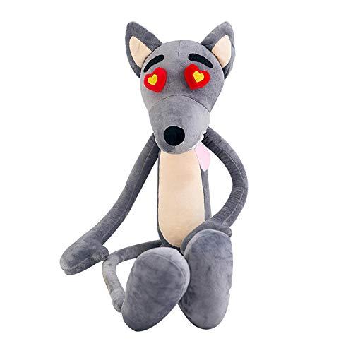 Recordever Bloem Hart Wolf Pop Knuffel Schattige Kinderen Speelgoed Pervert Pop Cartoon Anime Pop-bloem Hart Wolf_100cm