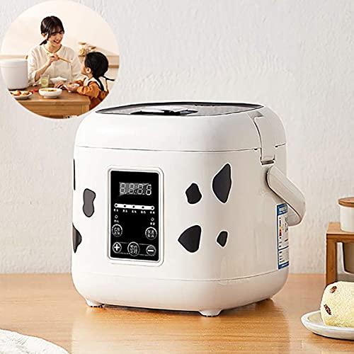 Olla arrocera multifunción 2L Mini olla arrocera 400W Horno eléctrico Fiambrera Calentador de alimentos multifunción portátil para cocinar arroz, gachQF de avena, huevos nutritivos, C