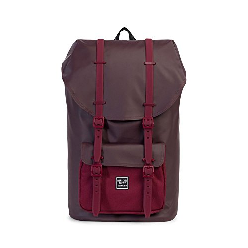 Herschel - Zaino Little America Studio Polycoat Backpack - Windsor Wine Polycoat