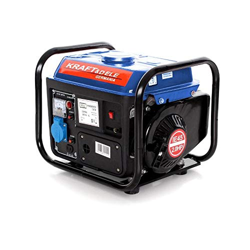 Strom-Generator 1200 Watt 2PS 230V 12V leise Benzin-Stromerzeuger Notstromaggregat 1-Phase für Garten Garage, Camping Kraft&Dele KD109