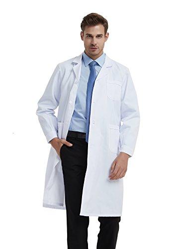 BSTT Hombre Bata de Laboratorio Blanco Uniformes de Trabajo Nueva Mejora Delgado L