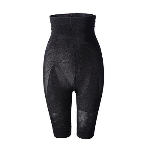 Donna Pantaloncino Medio Snellente Modellante Intimo SS-W02 Nero (L)
