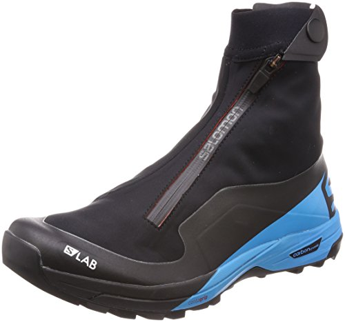 SALOMON Unisex-Erwachsene S/lab Xa Alpine 2 Traillaufschuhe, Schwarz (Black/Transcend Blue/Racing Red 000), 45 1/3 EU