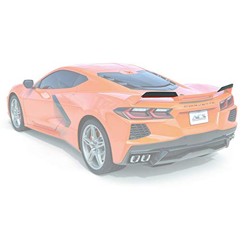 ACS Composite C8 Stingray Corvette 2020+ Z51 Spoiler Wickers | Painted in Carbon Flash Black | 50-4-063