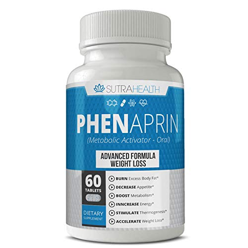 PhenAprin Diet Pills – Best Appetite Suppressant: Weight Loss and Energy Boost for Metabolism – Optimal Fat Burner Supplement  Helps Curb and Control Appetite  Promotes Mood & Brain Function