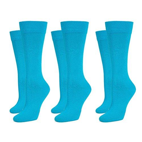 Safersox 3er Pack Business Socken Türkis, 39-42