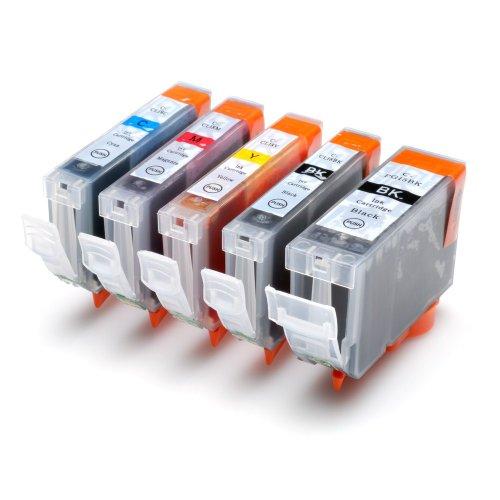 5 Druckerpatronen kompatibel für Canon Pixma IP4200 ip4300 ip4500 ip5200