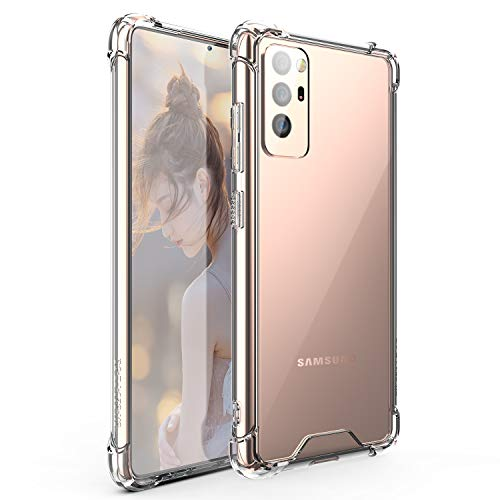 Galaxy S20 FE Case, [Shock-Absorbing] [Scratch-Resistant] [Military Grade Protection] Hard PC + Flexible TPU Frame for Galaxy S20 FE, Clear