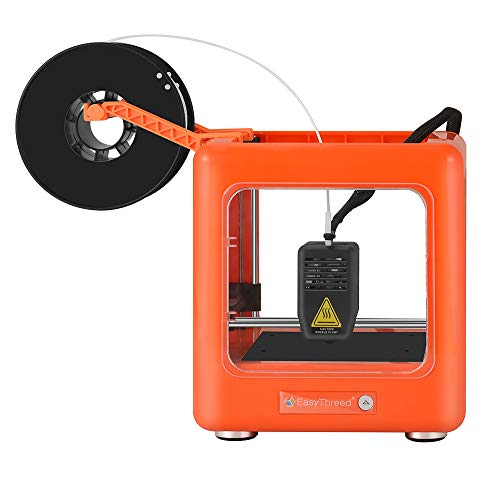 SAEEN Mini Toybox 3D Printer-DIY Set with Slicing Software, Printing Size 90x110x110mm Personal Small Assembled 3D Printers for Kids&Adults,Education,Starter/Beginner(Orange)