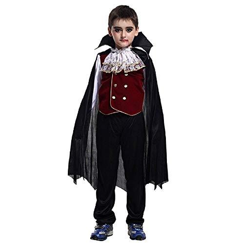 Karneval Kleid Graf Dracula umfasst Shirt-Jacke-Hose und Mantel Vampir Kostüm Idee Halloween Baby-Größe XL 8-9 Jahre Cosplay Partei in Maschera Wagons Thema Dressing