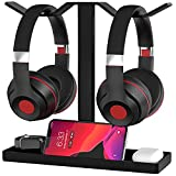 Stable Headphone Stand, MOCREO Acrylic Dual Balance Headset Stand Gaming Headphone Holder/Mount/Hanger, Desktop Headset Holder/Mount/Hanger, Extra Thick