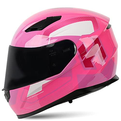 Casco De Moto Motocross Integral para motocicleta de calle con visera solar y espacio para Bluetooth hombres y mujeres Casco modular abatible para motocicleta, aprobado ECE,H,XL