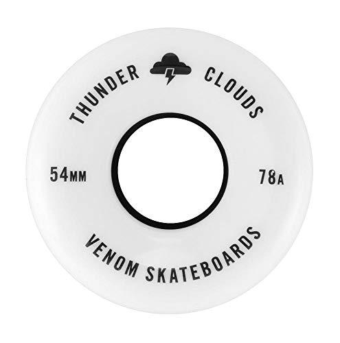 Venom Skateboards Thunder Clouds V2 All Terrain Street - Ruedas para monopatín (agarre suave, 78 A, para suelo áspero), 56 mm