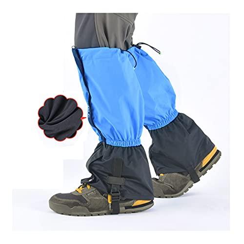 Yingbao Adulto Más Terciopelo Botas De Nieve Cálidas Al Aire Libre Impermeable Leggings Ajustables, Esquí Desierto Selva Senderismo Senderismo Zapatos De Nieve (Color : Azure Blue, Size : One Size)