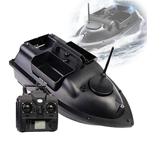 ORPERSIST Barco De Cebo Control Remoto, 500m GPS Barco De Cebo, Barco Cebador Carpa, Control De Crucero Y Led, DiseñO De Tres Almacenes para Herramienta Ayudas Pesca,GPS,12000mAh