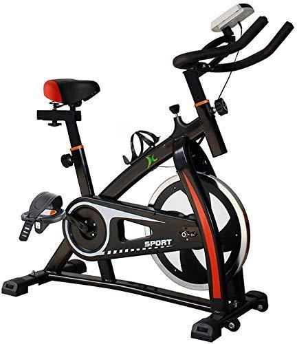 Heimtrainer Indoor Cycling, Einstellbarer Lenker Sitz Widerstand Smart App Computer liest Geschwindigkeit Zeit usw, elektromagnetische Spinning Bike for Zuhause mit Anti-Rutsch-Pedal maximale Tragfäh