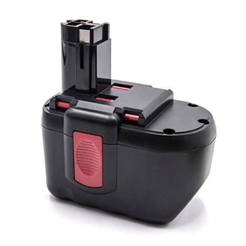 vhbw NiMH Battery 2000mAh (24V) for Power Tools Such as Bosch GSB 24VE-2, GSR 24VE-2, GST 24V, PSB 24VE-2, Saw 24V
