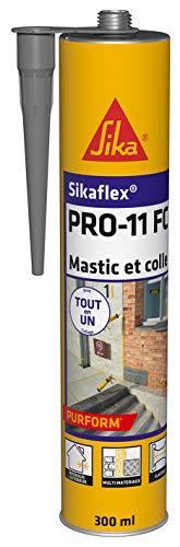 Sikaflex PRO 11 FC Purform Gris béton, Mastic polyuréthane PU tout en 1, mastic multi-matériaux, mastic étanche intérieur et extérieur, 300ml