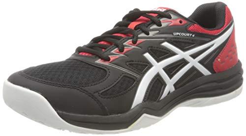 ASICS Mens Upcourt 4 Volleyball Shoe, Black/White,45 EU