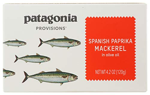 Patagonia Provisions, Mackerel Spanish Paprika Olive Oil, 4.2 Ounce