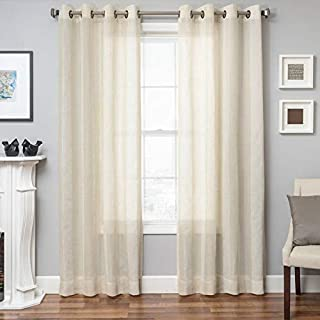 Softline Monica Pedersen Del Mar Seagrove Stripe Panel Collection Natural 54 x 96 96 Inches