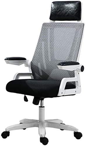 LQ High Back Office Aufgabe Computer Stuhl Mesh-Schwenker-Fach verstellbare ergonomische Rückenstütze mit Sitzschwenk Stuhl Geländer 300KG Kapazität Trage Bürostuhl (Color : Color a)