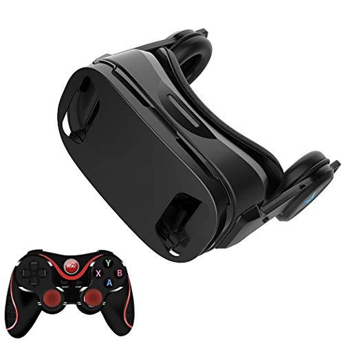 Gafas VR, 3D VR Auriculares Compatible con iPhone y Android, VR Glasses Visión Panorámico 360 Grado Película 3D Juego Immersivo para Móviles 4.5-6.0 Pulgada con Lente Ajustable. O262XB