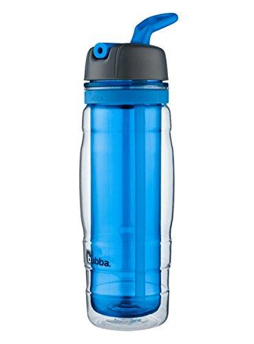 bubba Raptor Kids Double-Walled Insulated Straw Water Bottle, 16 oz., Azure