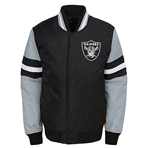 Outerstuff NFL Jungen Legendary Color Blocked Varsity Jacke, Jungen, legendary Color Blocked Varsity Jacket, schwarz, Youth X-Large (18)