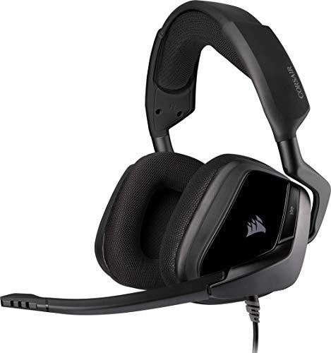 Corsair VOID ELITE Stereo Gaming-Headset (Atmungsaktivem Mikrofasergewebe, Memory-Schaumstoff Ohrpolster, Omnidirektionales Mikrofon, Plattformübergreifende Kompatibilität), Schwarz