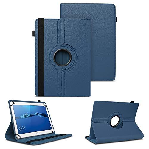 NAUC Tablet Tasche für Huawei Mediapad X2 Hülle Schutzhülle Cover Schutz Case Drehbar, Farben:Blau