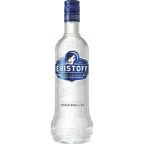Eristoff Vodka - Pack de 3 botellas x 1000 ml - Total: 3L