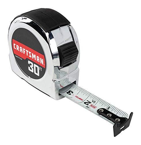 CRAFTSMAN Tape Measure, Chrome Classic, 30-Foot (CMHT37330S)