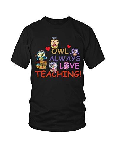 YBCamisetas Hombre's Owl Always Love Teaching Teacher Gift T-Camisetas