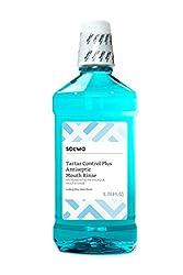 Amazon Brand - Solimo Tartar Control Plus Antiseptic Mouth Rinse, Iceberg Blue Mint, 1 Liter, 33.8 F