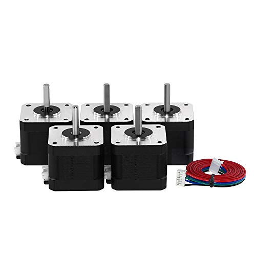 3Pcs 4 Lead Nema17 Stepper Motor, Creative 3D 38mm 42 Motor Nema 17 Motor 42BYGH 38MM 1.5A (17HS4401S) Motor for CNC XYZ 3D Printer Motor (3)