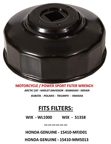 OIL FILTER WRENCH Motorcycle Fit: Filters  WIX WL1000, 51358 / HONDA GEN. 15410-MFJD01, 15410-MM5013 Specifically made to fit only these three filters !