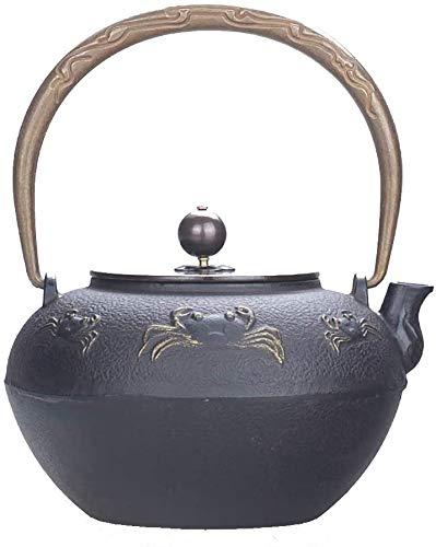 GF-Household goods Hervidor de té de Hierro Fundido de 1300 ml, infusieros de té de Hoja Suelto, Tetera Retro Hecha a Mano, hervidor de hogar, Fabricante de té